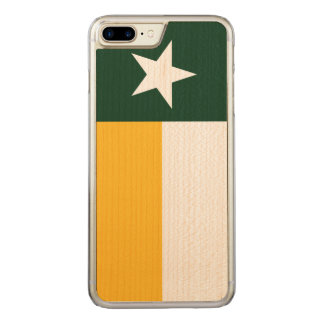 Green and Gold Texas Flag Carved iPhone 8 Plus/7 Plus Case