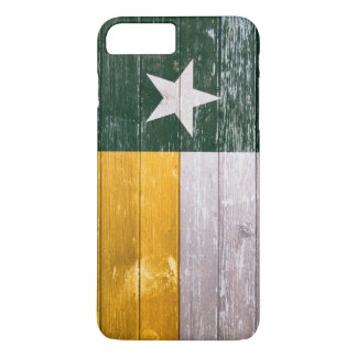 Green and Gold Texas Flag Old Painted Wood iPhone 7 Plus Case
