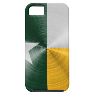 Green and Gold Texas Flag Radial Brushed iPhone 5 Case