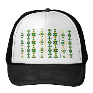 Green and Gold Transparency Mesh Hats