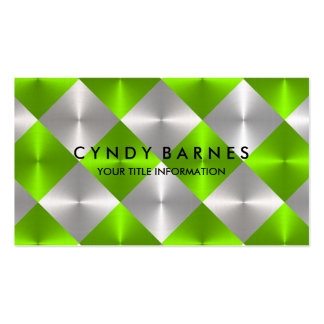 Green and Gray Tiles Business Card