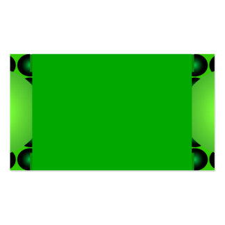 Green and Green Business Card Mod Retro 4 Pack Of Standard Business Cards