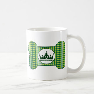Green and Green with Green Crown.png Basic White Mug