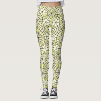 Green and grey pattern leggings. leggings
