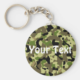 Green and Khaki Keychain