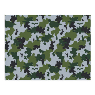 Green and Light Blue Camouflage Postcard