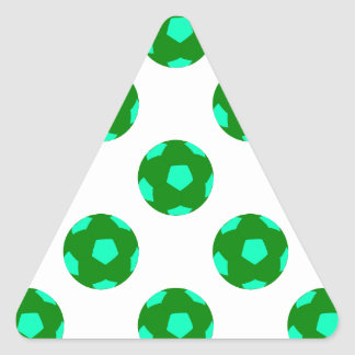 Green and Light Blue Soccer Ball Pattern Stickers