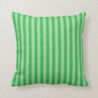 Green and Light Green Stripes Pillow