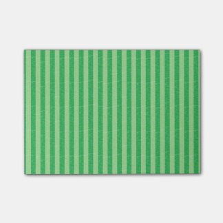 Green and Light Green Stripes Post-it® Notes