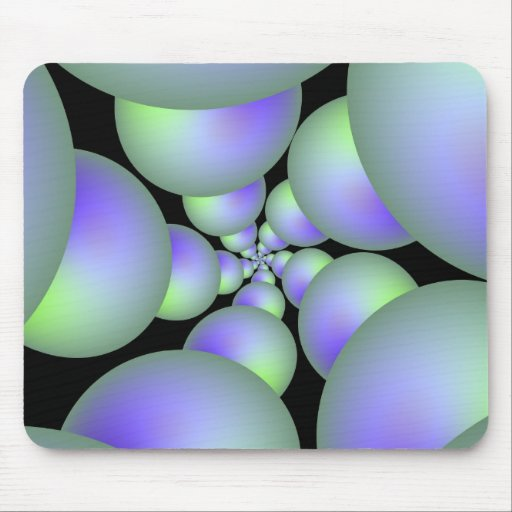 Green and Lilac Sphere Spiral Mousepad