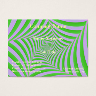 Green and Lilac Spiral Card