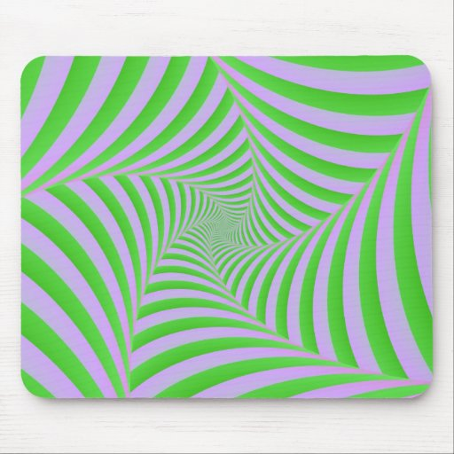 Green and Lilac Spiral Mousepad