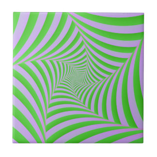 Green and Lilac Spiral tile