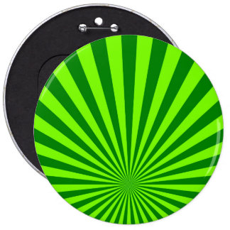 Green and Lime Funky Striped Abstract Art Button