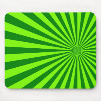 Green and Lime Funky Striped Abstract Art Mouse Pad