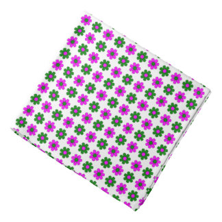 Green and magenta flowers bandana