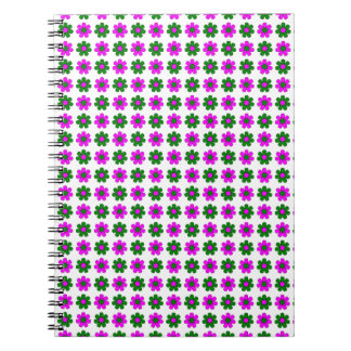 Green and magenta flowers notebook
