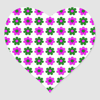 Green and magenta flowers sticker