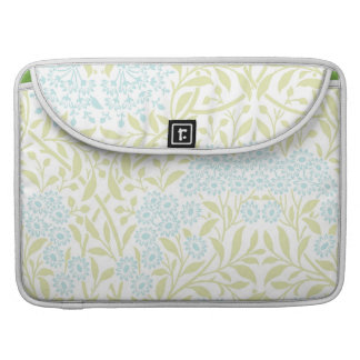 Green and Mint Floral Damask Pattern Sleeve For MacBook Pro