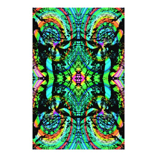 Green and Multicolor Pattern Abstract Design. Flyer Design
