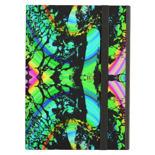 Green and Multicolor Pattern Abstract Design. iPad Case