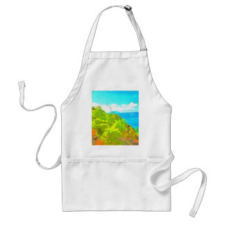 Green and ocean standard apron