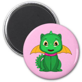 Green And Orange Chibi Dragon Magnets