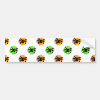 Green and Orange Halloween Spider Cookies Bumper Sticker