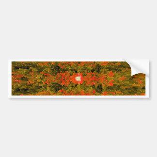 Green and Orange Modern Textured Pattern Design Bumper Sticker