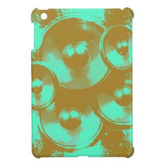 Green and orange music speakers iPad mini cases