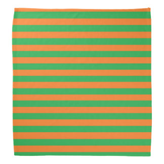 Green and Orange Stripes Bandana