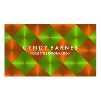Green and Orange Tiles Business Card