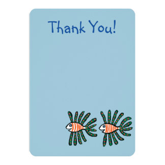 Green and Orange Twin Fin Fish Card