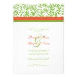 Green and Orange Wedding Invitation