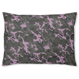 Green and Pink Camo Pet Bed