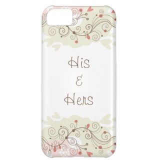 Green and Pink Curls Valentines Case For iPhone 5C