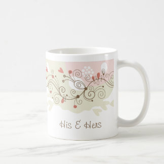 Green and Pink Curls Valentines Classic White Coffee Mug