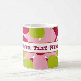Green and Pink Flowers Mug