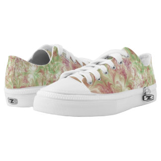 Green and Pink Fractal Swirl design Sneaker Printed Shoes