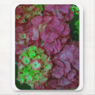 Green and Pink Hydrangeas Mouse Mat