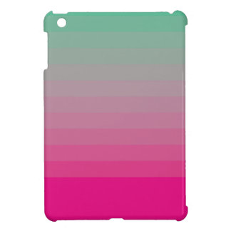 GREEN AND PINK OMBRE COVER FOR THE iPad MINI