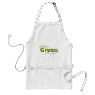 green and pink standard apron