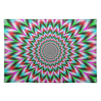 Green and Pink Star Placemats