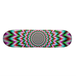 Green and Pink Star Skateboard