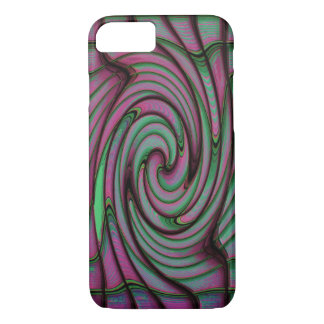 Green and Pink Swirl Fractal iPhone 7 Case