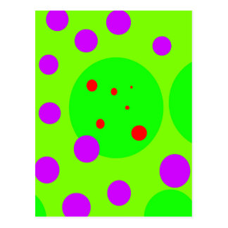 Green and purple design by Moma Postcard