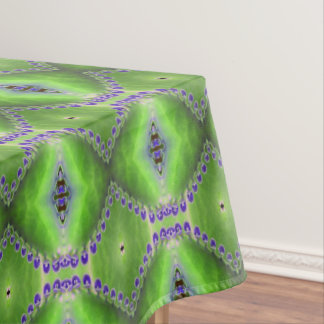 Green and Purple Design Tablecloth