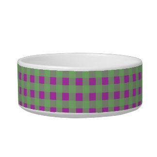 Green and Purple Gingham Bowl