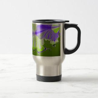 Green and Purple Leaf Mugs