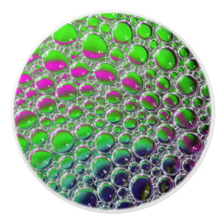 Green and Purple Liquid Bubbles Knob
